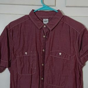 Other - Short Sleeve Red Flannel